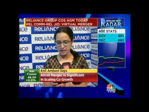 Reliance Comm Enters Into A Virtual Merger With Reliance Jio