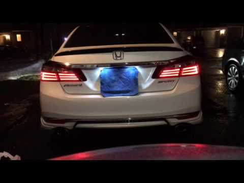 2016 honda accord brake light leds youtube. Black Bedroom Furniture Sets. Home Design Ideas