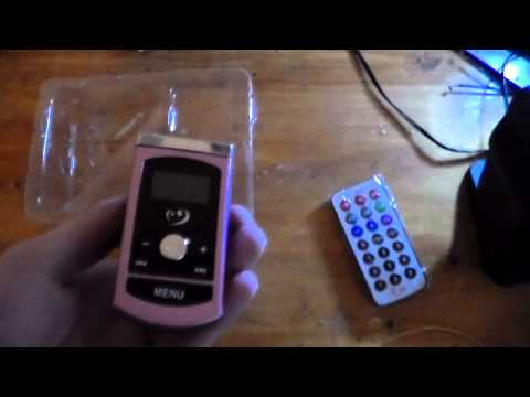 Chinese MP3 player FM Transmitter unboxing and quick test