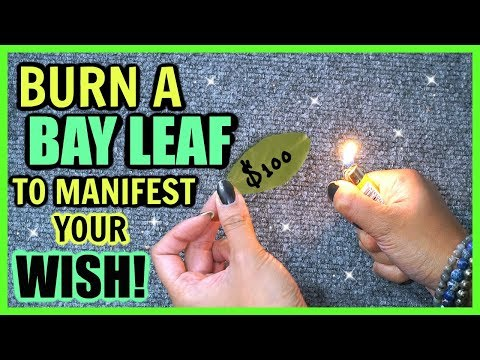 BURN BAY LEAVES TO ATTRACT YOUR WISHES! │ EXTREMELY