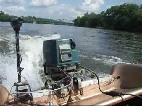 Suzuki 40hp outboard boat motor running a 15 39 olimpian on for Outboard motors for sale in delaware