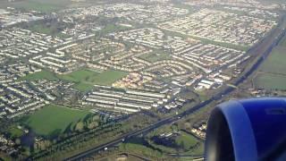 British Airways Airbus A320 onboard landing - Newcastle Airport - 13/01/2015