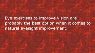Eye Exercise for Myopia