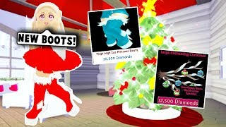 BUYING THE NEW EXPENSIVE BOOTS AND WINGS! CHRISTMAS UPDATE! (Roblox Royale High) Roblox Roleplay