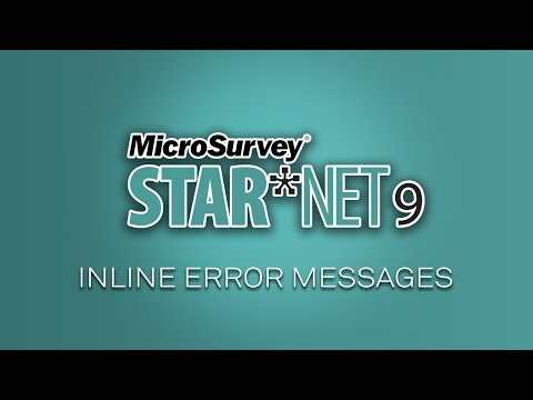 STAR*NET 9 Upgrade Tour - Inline Error Messages