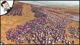 MASSIVE 21000 CARTHAGE v MACEDON SURVIVAL BATTLE - Ancient Empires Gameplay (Total War Attila Mod)
