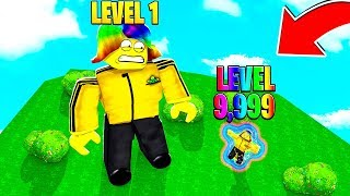 I became level 9,999 and it made me SIZE 0.000001.. HELP (Roblox)