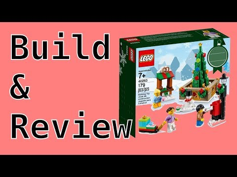 Lego Christmas Town Square | Build And Review | 40263