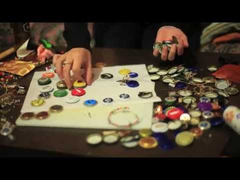 Jewellery Making | Beer Bottlecaps | Unintended ASMR | Sorting Small Parts