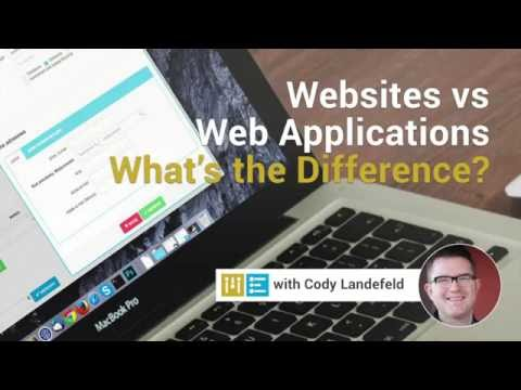 Websites vs Web Applications pt 1 - Know the Difference