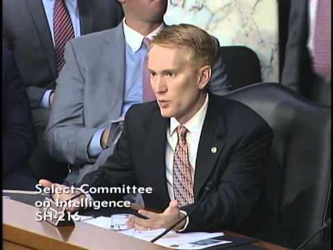 Senator Lankford Questions FBI Director at Intelligence Committee Hearing