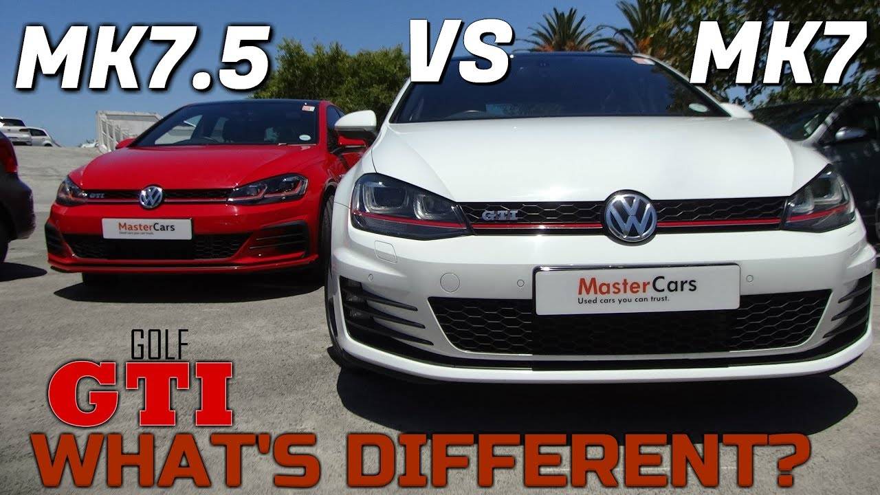 comparing the 2019 mk7 5 vw golf gti vs mk7 vw golf gti in depth review and comparison youtube