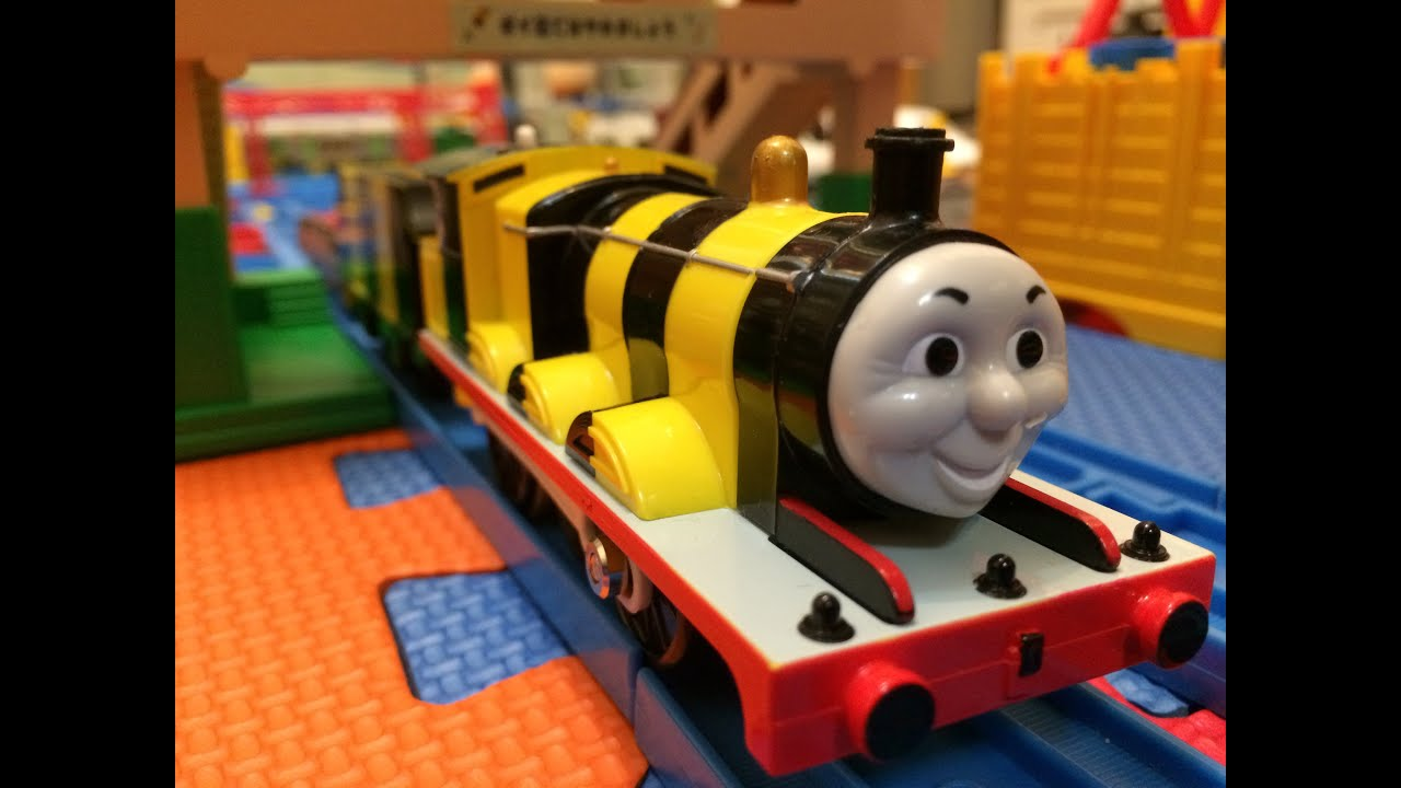 Train jouet thomas et ses amis busy bee james 00077 fr youtube - Train thomas et ses amis ...