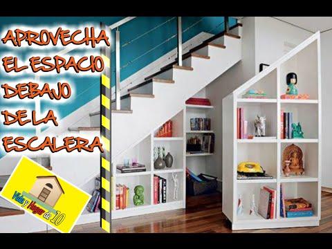 Ideas para aprovechar el espacio debajo de las escaleras for Biblioteca debajo de la escalera