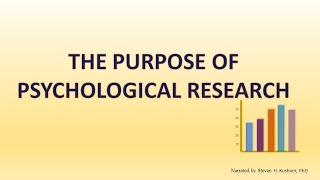 the purpose of psychological research psychademia ap psychology