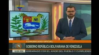 Comunicado oficial del gobierno nacional tras operativo contra Óscar Pérez