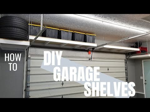 AWESOME Hanging Garage Shelves | DIY Garage Storage | Garage Makeover Pt. 4