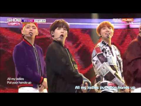 [繁中字/Eng] BTS (防彈少年團) - 21st Century Girls 161019 (Live)