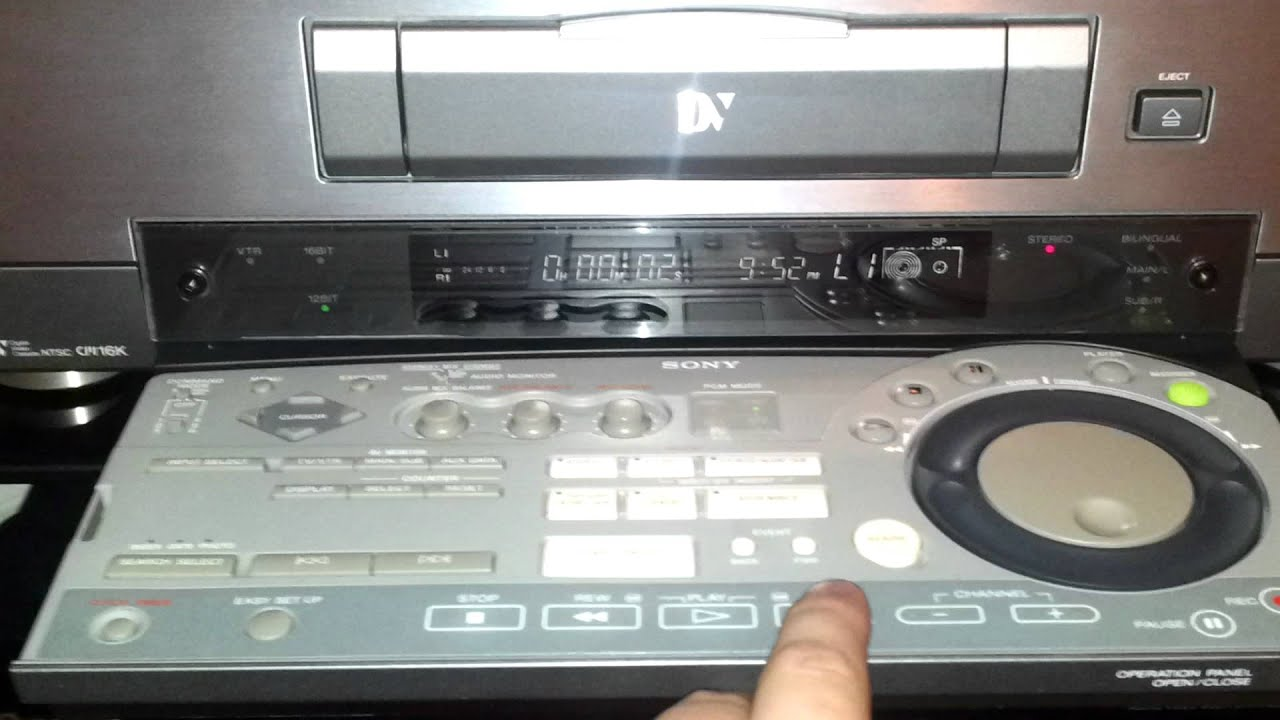 Sony Dhr-1000 Dv    Minidv Digital Vcr In Action
