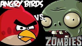 Злые птицы против зомби 3 # Энгри Бердз мультик игра # детские видео