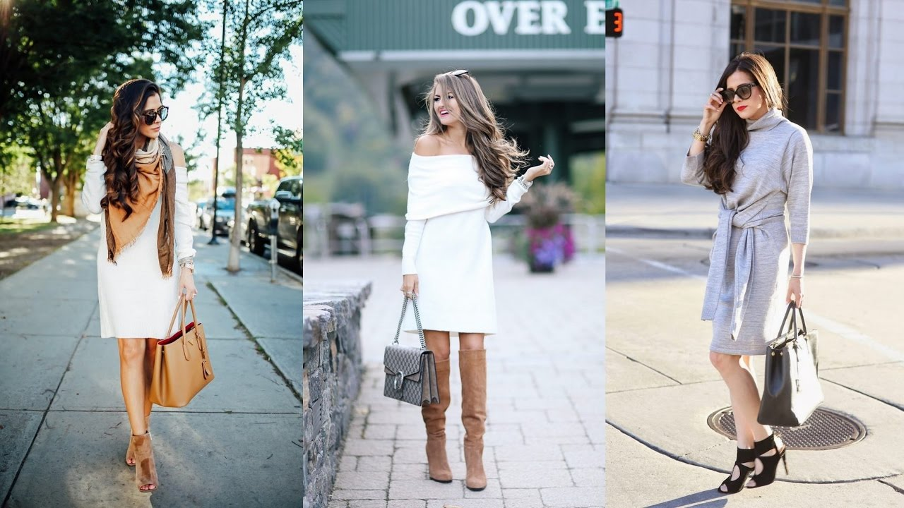How To Wear A Sweater Dress Like A Style Star Youtube