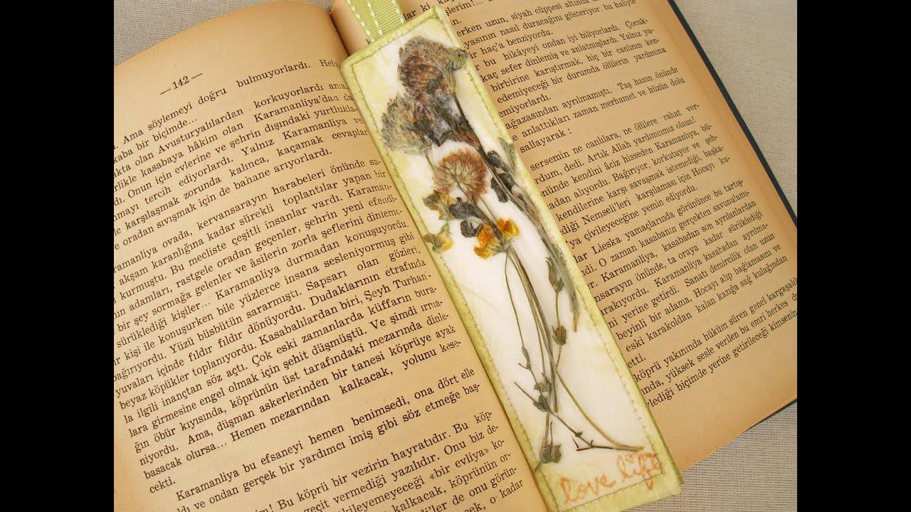 Çiçekli Kitap Ayracı Yapımı