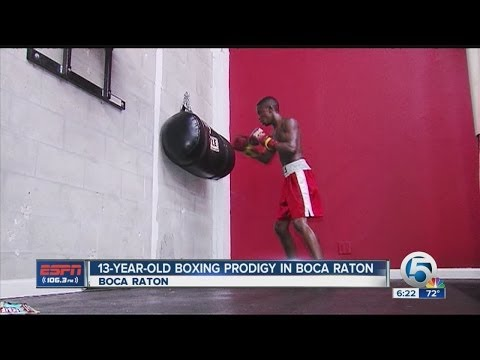 13-year-old boxing prodigy in Boca Raton