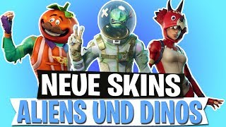 *NEW* SKINS AND EMOTES LEAK | ALIEN, DINO, TOMATO HEAD | FORTNITE BATTLE ROYALE English