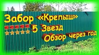 Как сделать забор, обзор моего забора через год(В этом видео я хочу показать забор, который был сделан мною. В ролике будут показаны ссылки на уникальное..., 2015-05-23T12:28:36.000Z)