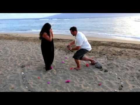 Engagement Love on Maui Baby Beach Lahaina HI