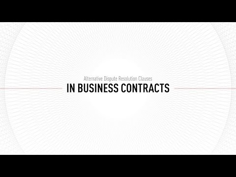 Chapter Alternative Dispute Resolution Clauses In Business Contracts