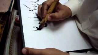 Nastaliq and Thuluth calligraphy by World famous calligraphist Ustad Khurshid Gohar-pakistan