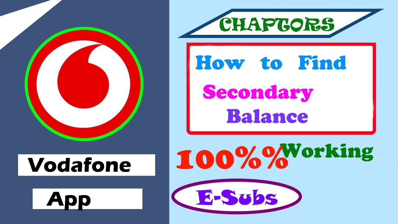 how to check my sms balance in vodafone