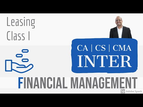 CA CS CMA | Inter | FM | Leasing Class 1 | Sanjay Saraf Sir | SSEI