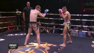 Best of 2016: Travis Clay Delivers a Skull Cracking Head Kick at Lion Fight 29