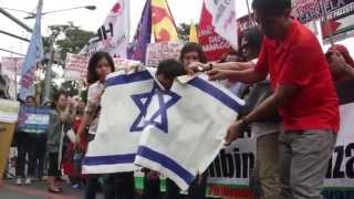 ILPS Philippines protest Israel war on Gaza