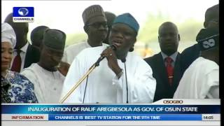 Inauguration Of Rauf Aregbesola As Governor Of Osun State Part 12