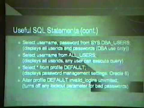 DEF CON 7 - Vic Vandal - Hacking Oracle 101