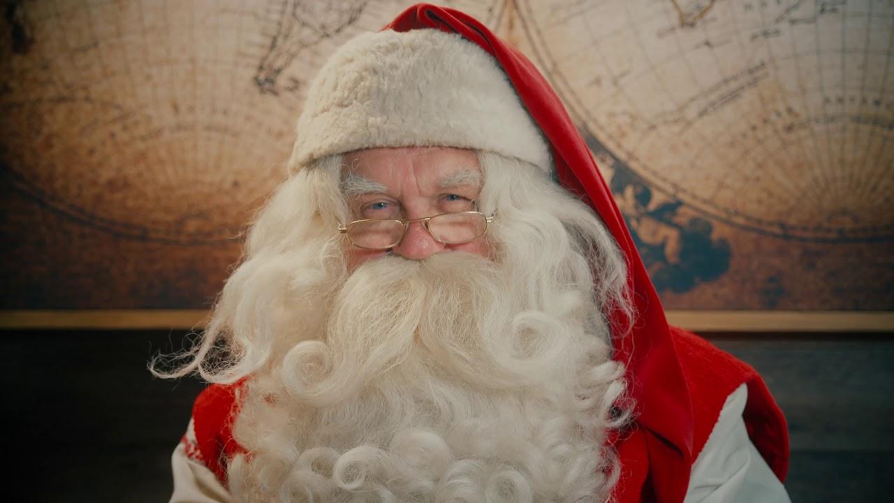 Il Babbo Natale.Messaggio Di Babbo Natale In Lapponia Finlandia Videomessaggio Santa Claus Rovaniemi Polo Nord Youtube