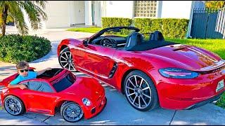 سينيا وبابا وأفضل سياراتهم. مجموعة من أشرطة الفيديو للأطفال