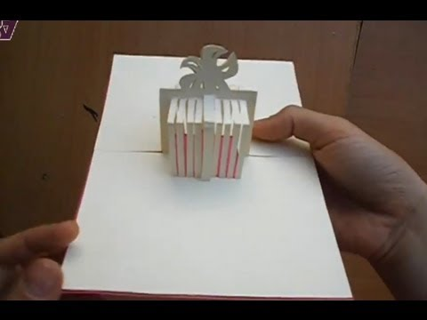 Birthday Present Gift Box Pop Up Greeting Card Tutorial