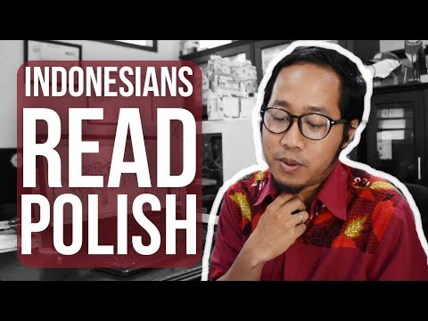 Funny!!! Indonesians read Polish - Globe in the Hat #9