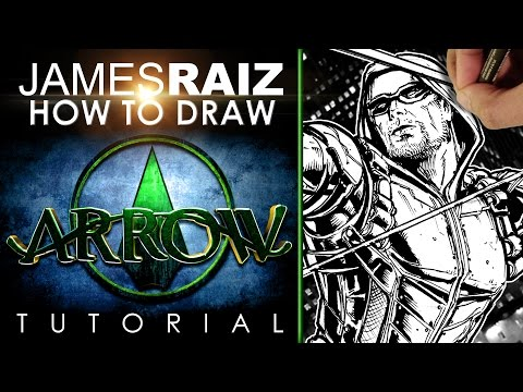 how to draw green arrow step by step easy