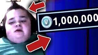 ребенок КУПИЛ 1,000,000 ФОРТНАЙТ БАКСОВ с помощью маминой кредитной карты... (fortnite)