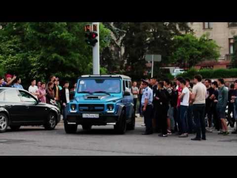 #Motorfest2017 g63 amg Brabus kit. Toyota Supra. Exhaust sounds. Almaty city