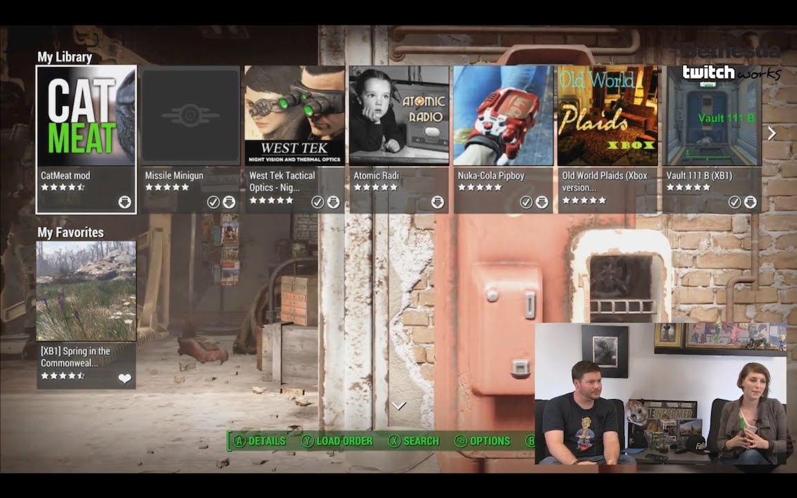 Fallout 4 - Previewing Mods on Xbox One