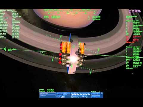 Flying to Saturn's Moon Titan in Space Engine