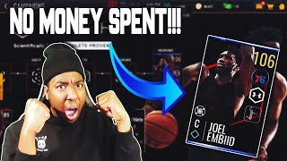 FULL GUIDE ON HOW TO GET THE 106 JOEL EMBIID FTP IN NBA LIVE MOBILE 19!!!