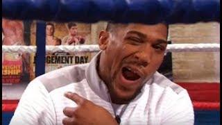 Anthony Joshua Basically says Deontay Wilder is a Step up From Klitschko