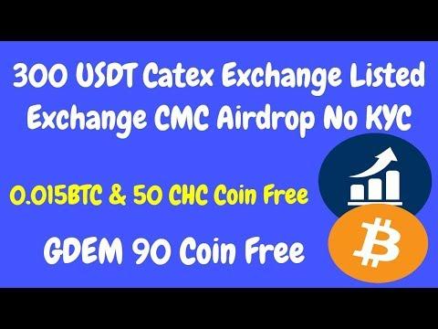 300 USDT Prize Catex Exchange No KYC | 0.015 BTC & 50 CHC Free